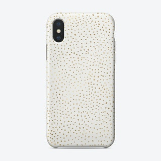 Dotted Gold And White Phone Case