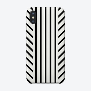 Lined Black Phone Case