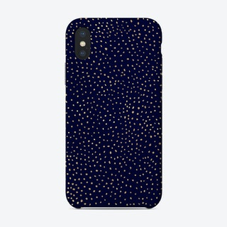 Dotted Gold And Navy Phone Case