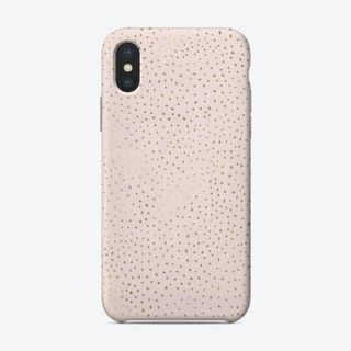 Dotted Gold And Pink Phone Case