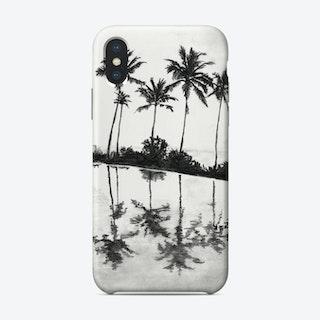 Palm Tree Reflections Black Phone Case