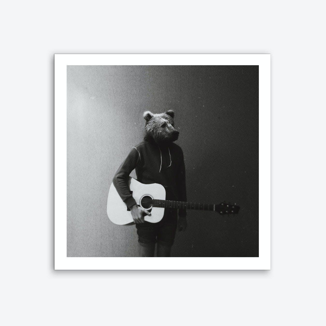 Animals in My Room (Bear) Art Print