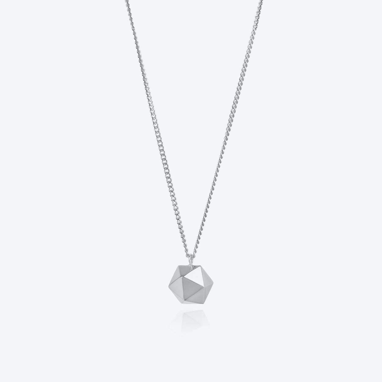 Icosahedron Pendant in Silver