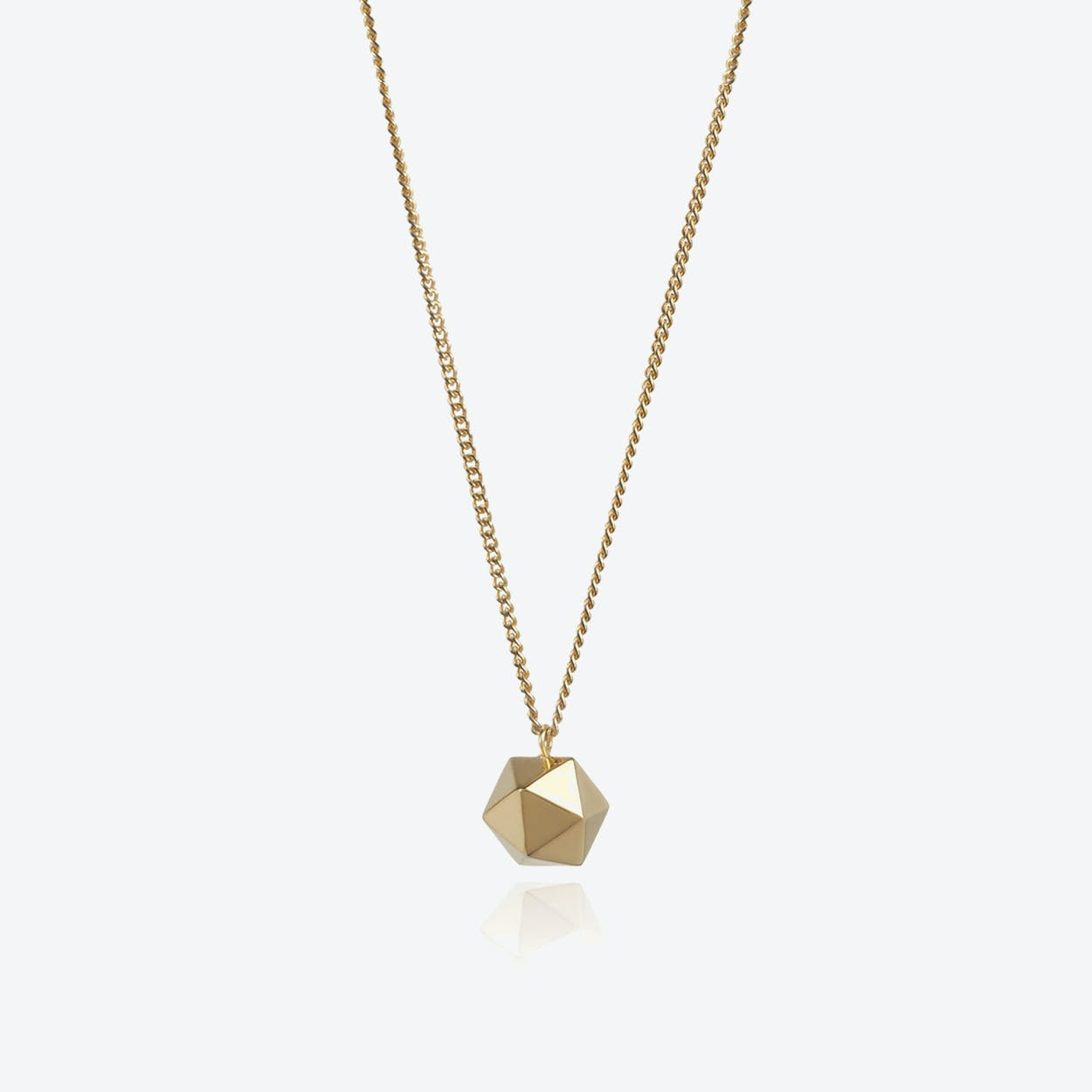 Icosahedron Pendant in Gold