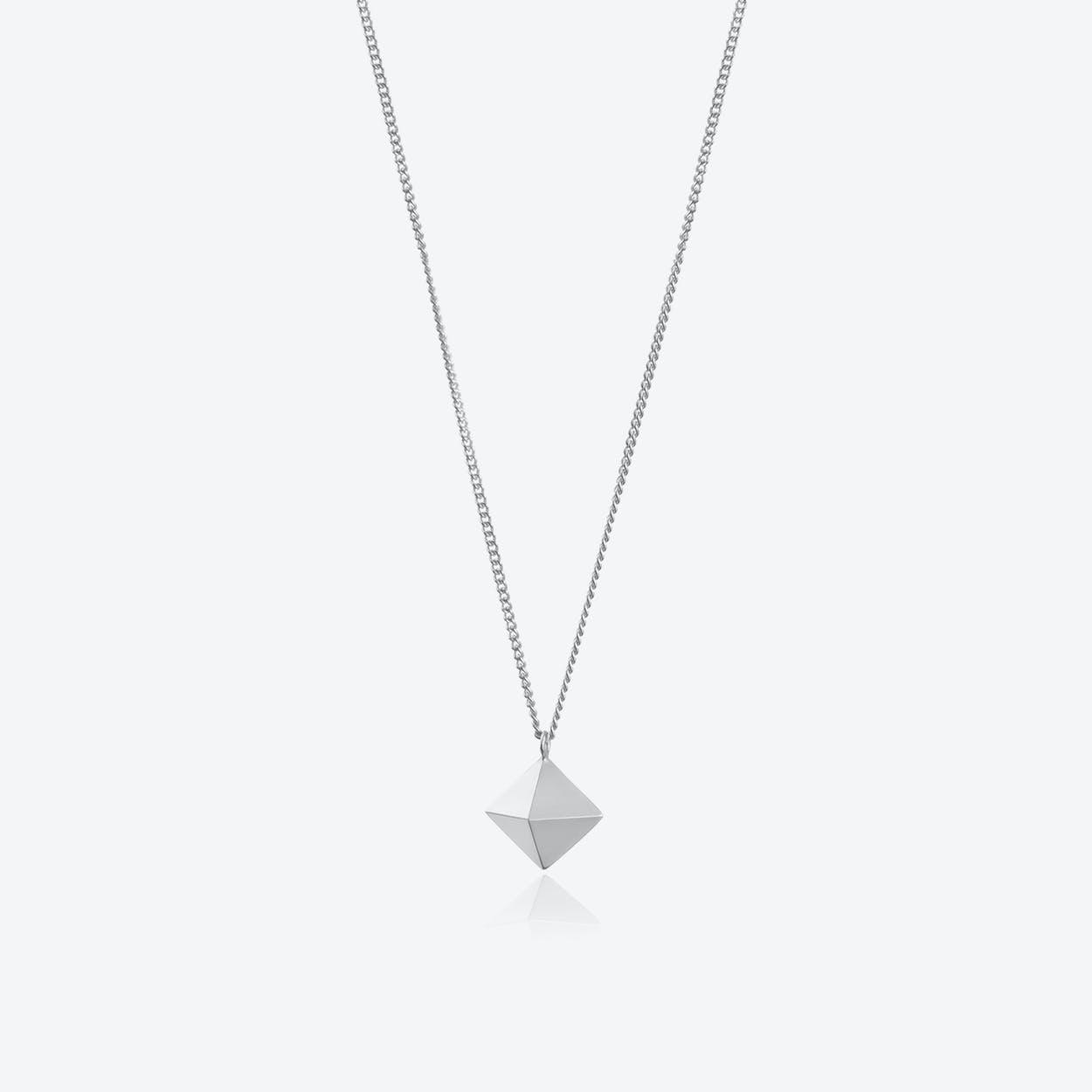 Octahedron Pendant in Silver