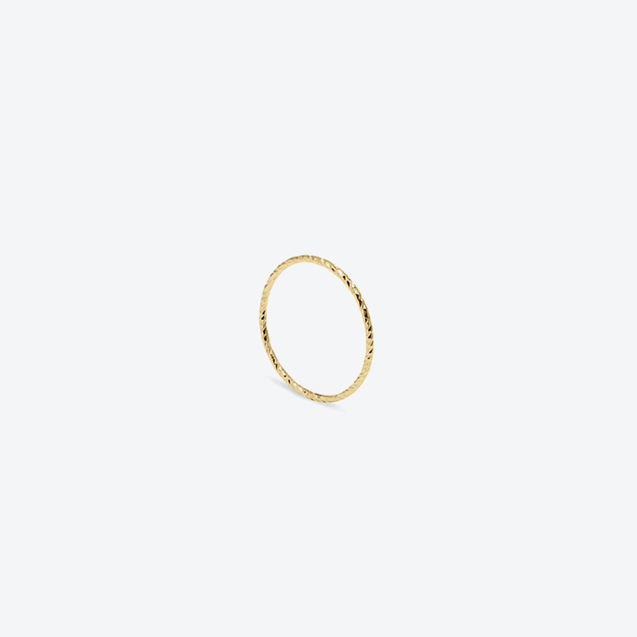 Ultra Skinny Diamond Stacking Ring in Gold