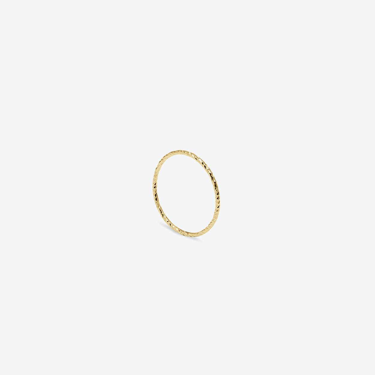 Ultra Skinny Diamond Stacking Ring in Gold
