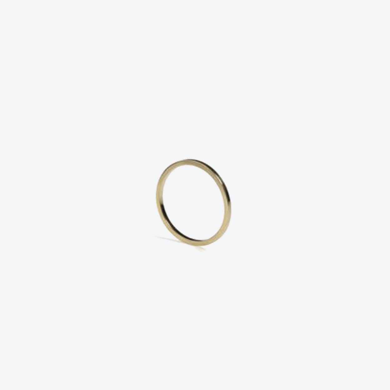 Skinny Square Stacking Ring in Gold