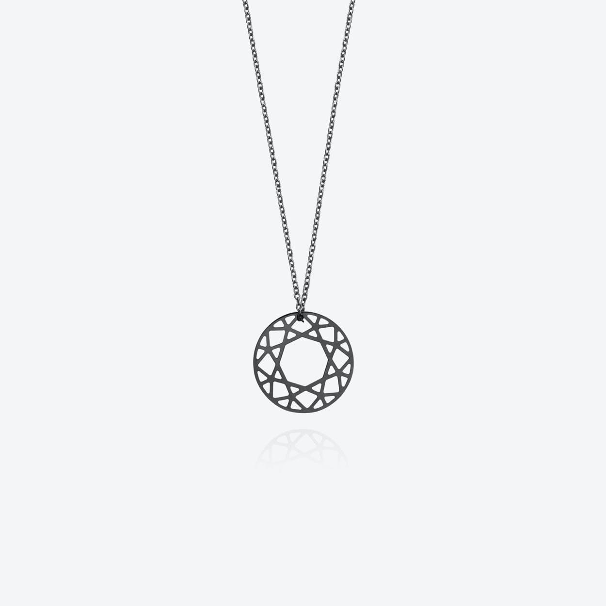 Medium Brilliant Diamond Necklace in Black