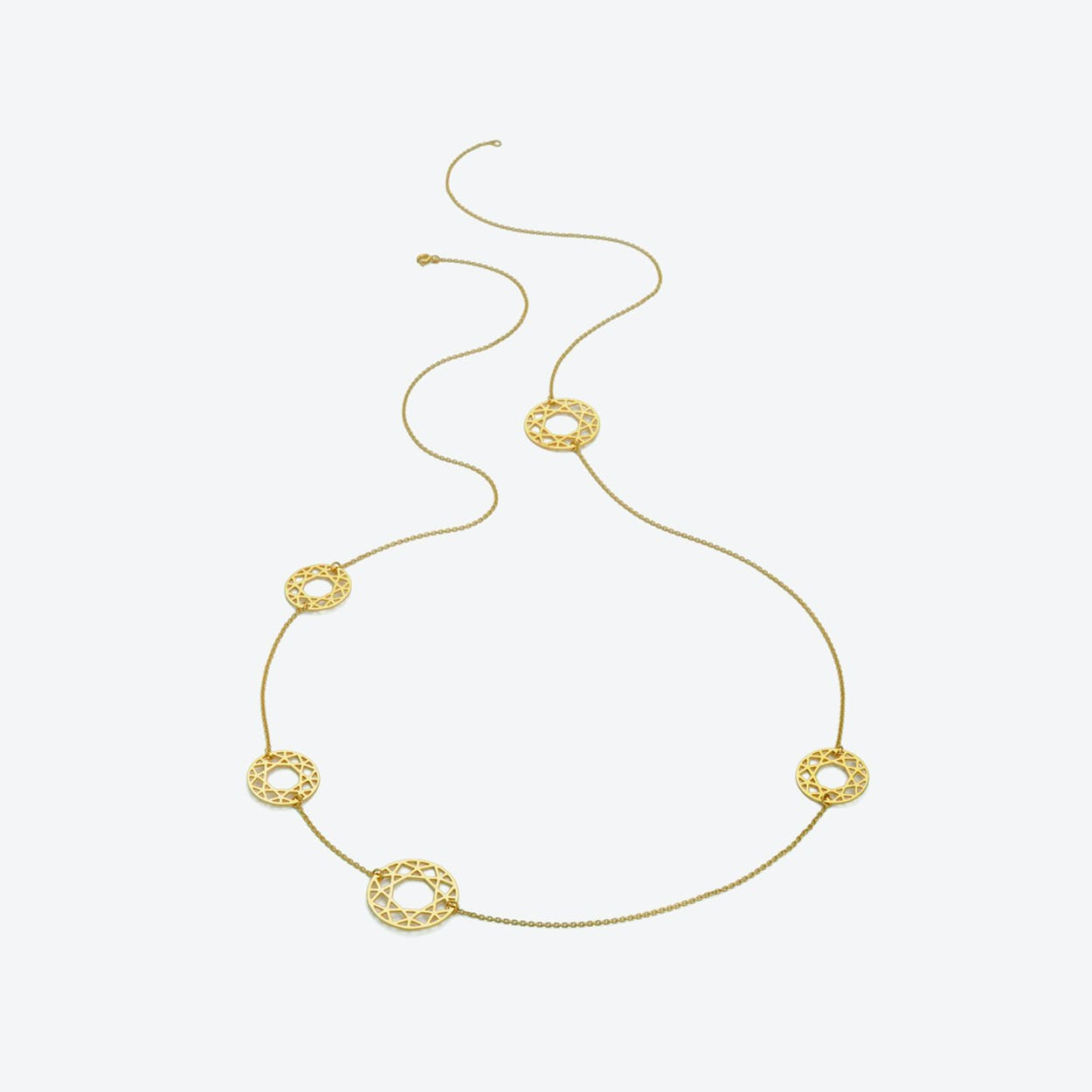 Multi-Brilliant Diamond Necklace in Gold