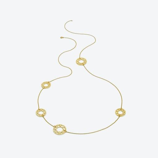 Multi-Brilliant Diamond Necklace in Gold