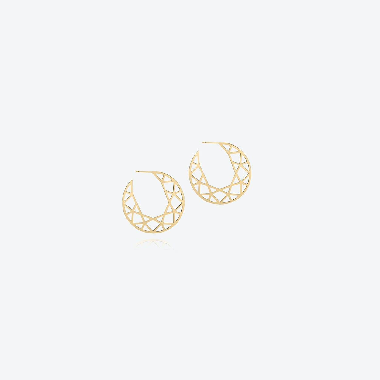 Large Brilliant Diamond Hoop Earrings in Gold