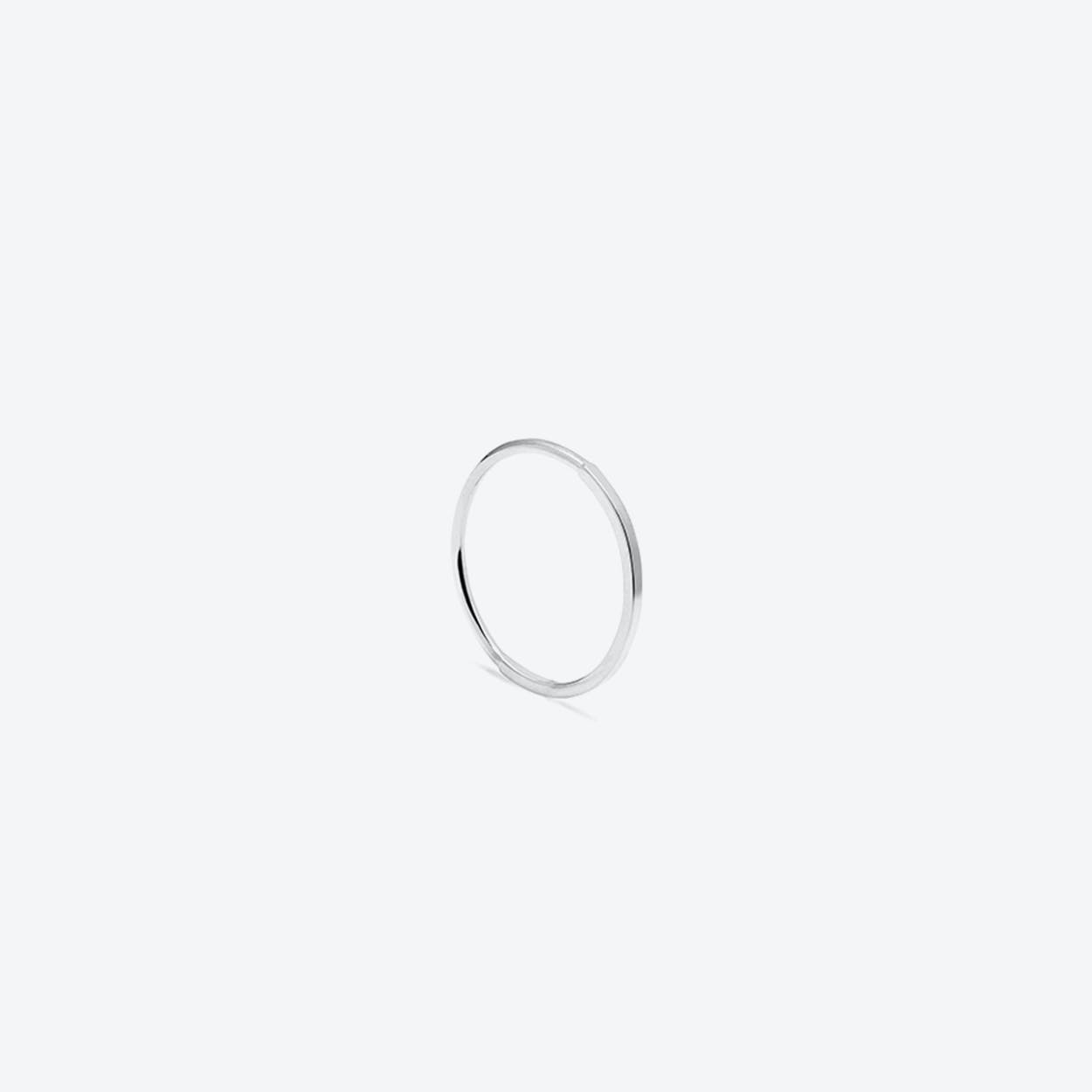 50 Square 50 Round Stacking Ring Sterling Silver