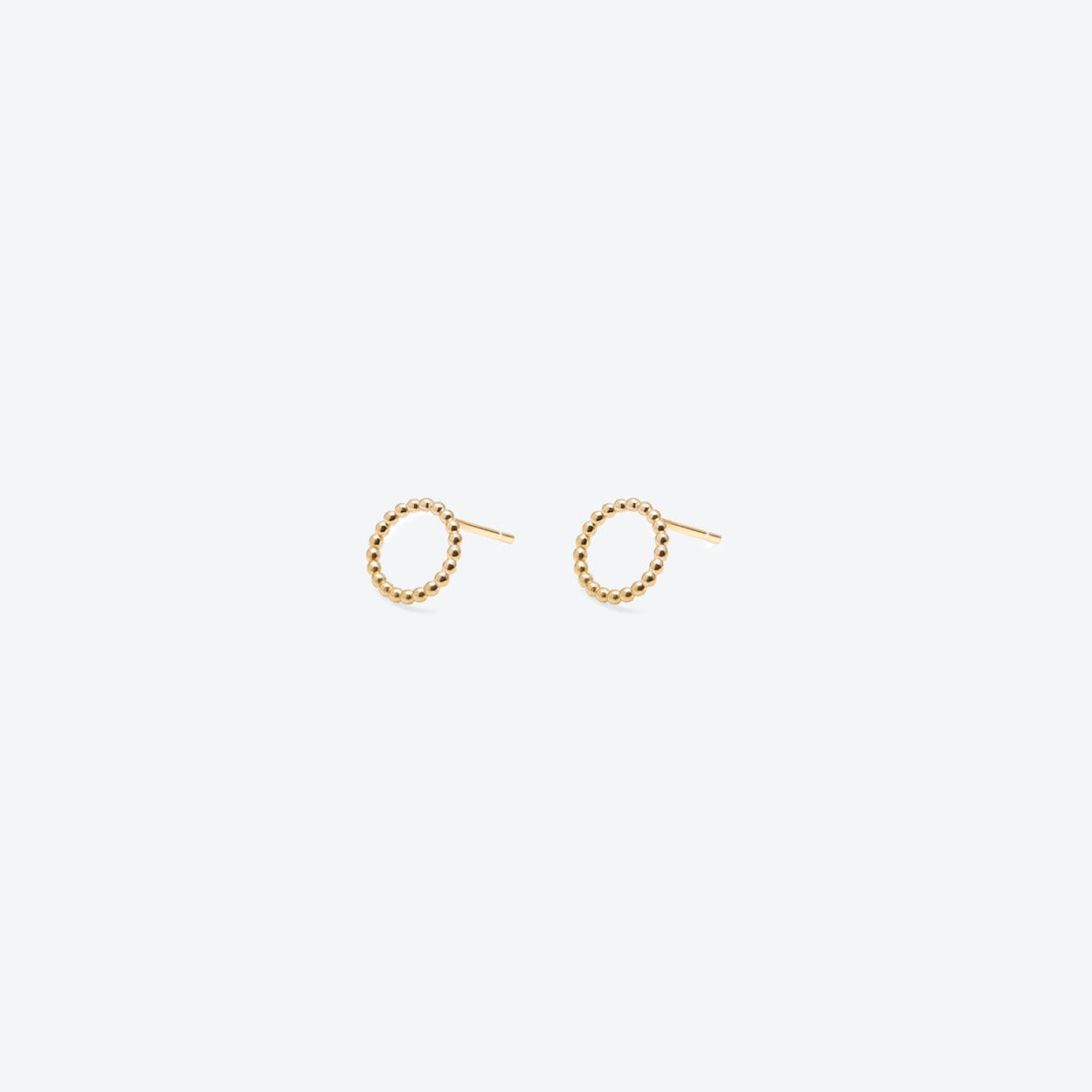 Mini Circle Ball Stud Earrings Gold Plated
