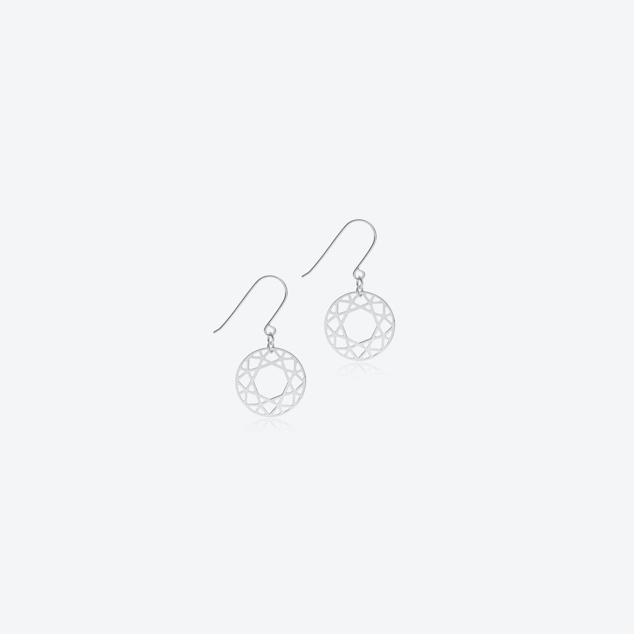 Brilliant Drop Earrings in Silver