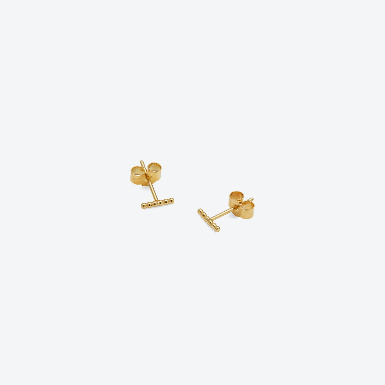 Mini Ball Bar Stud Earrings in Gold