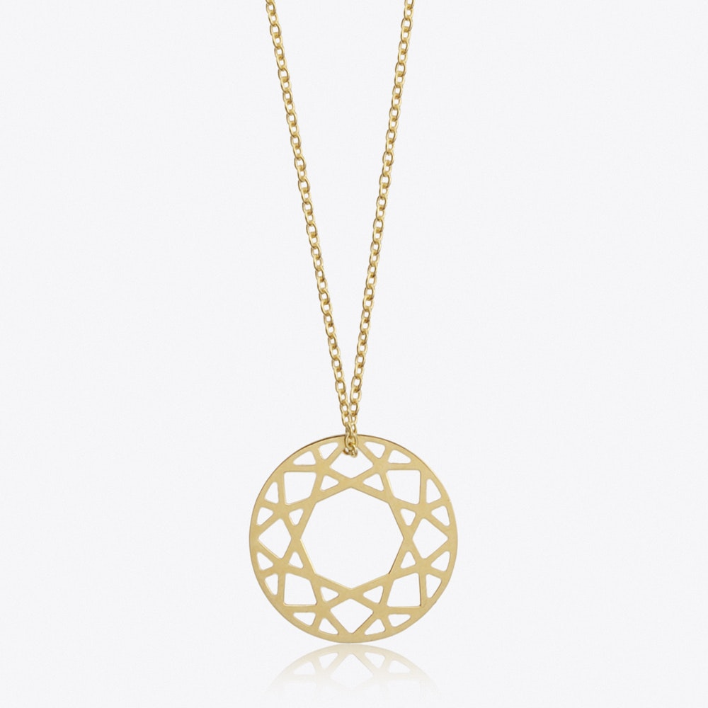 r cushion ct da diamond necklaces q brilliant in round twt gold rose halo pendant necklace