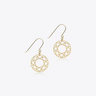 Brilliant Drop Earrings in Gold