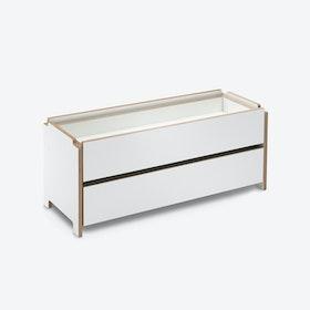 HARRY Shelf w/ Two Drawers