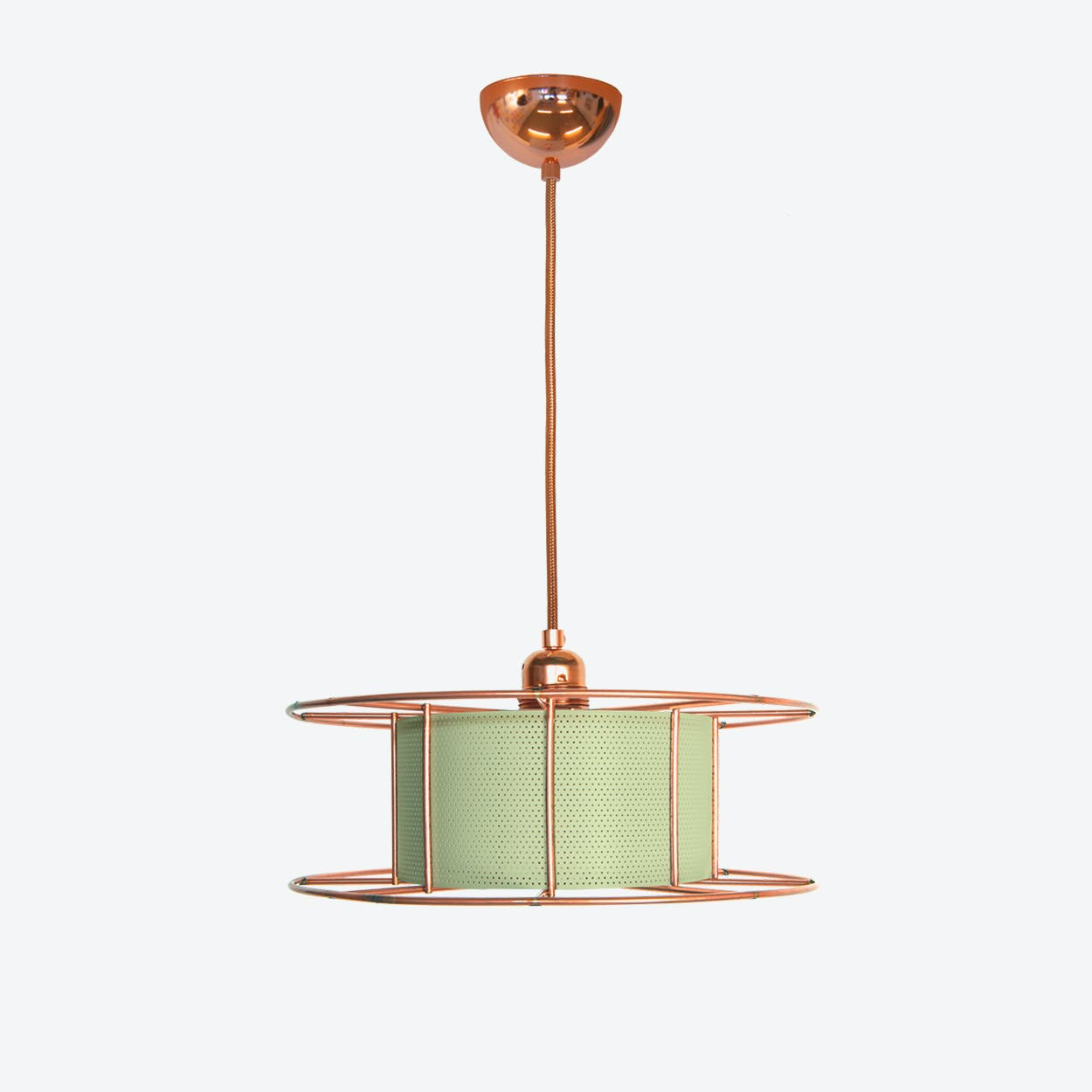 Spool Basic Pendant Light in Green
