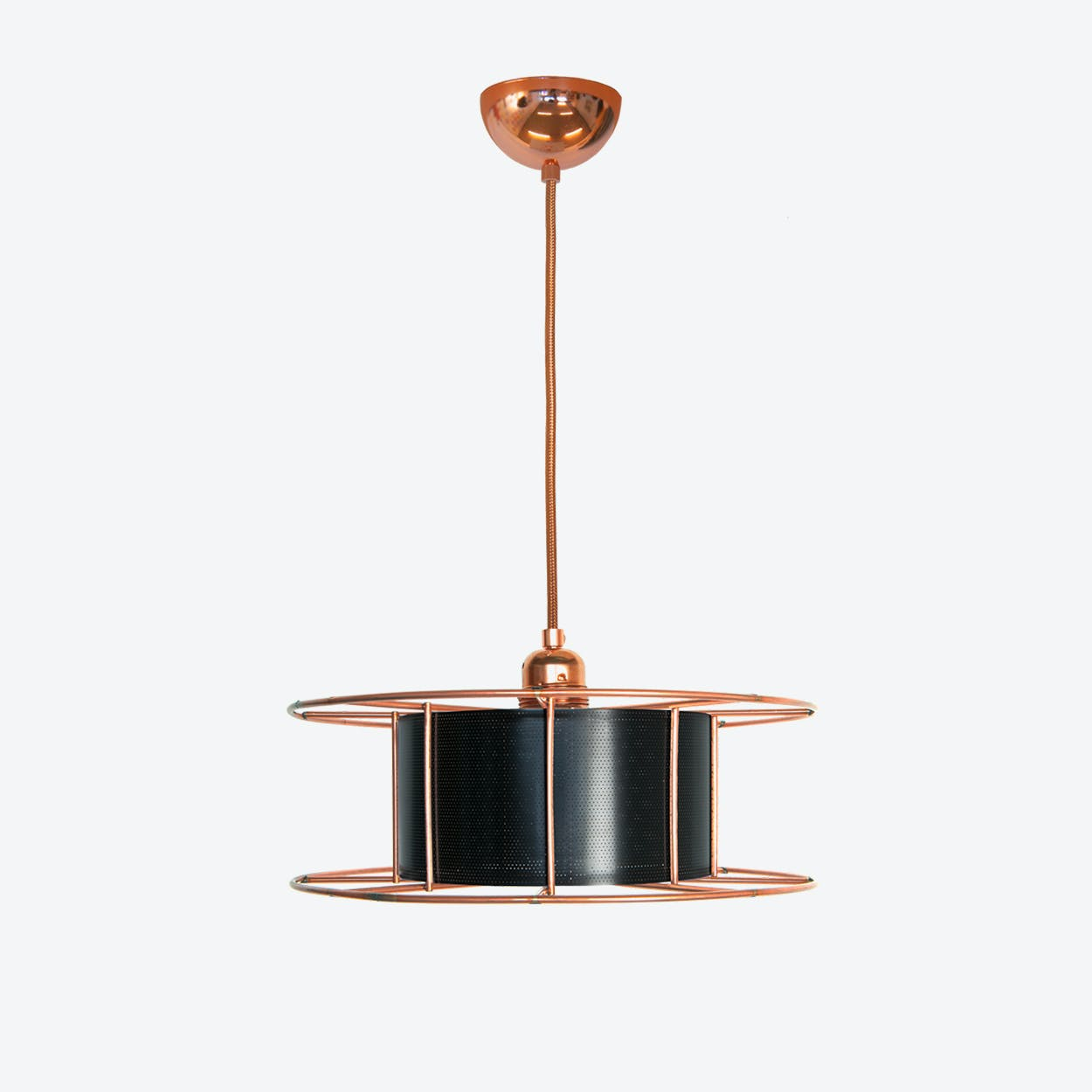 Spool Basic Pendant Light in Black