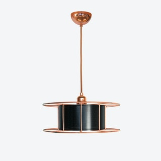 Spool Basic Pendant Light in Black
