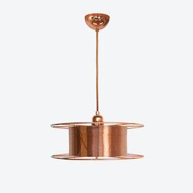 Spool Deluxe Pendant Light in Copper