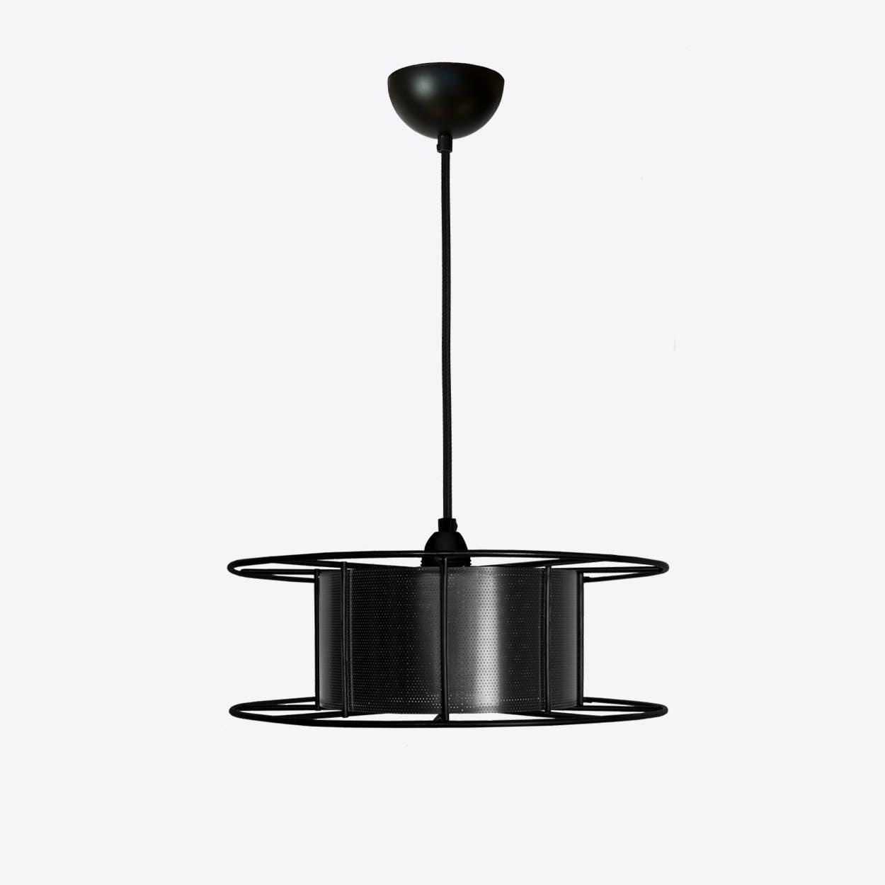 Spool Pendangt Light in Black/Black