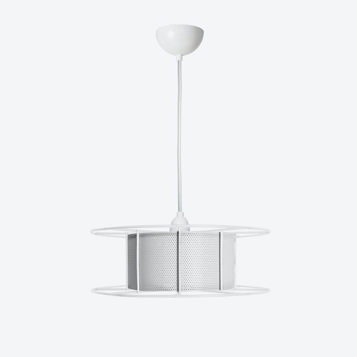 Spool Pendant Light in White