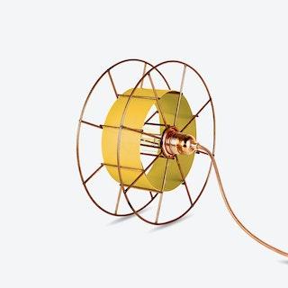 Spool Floor Lamp in Yellow