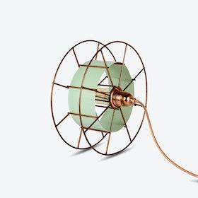 Spool Floor Lamp in Green