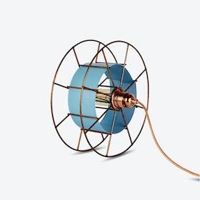 Spool Floor Lamp in Blue