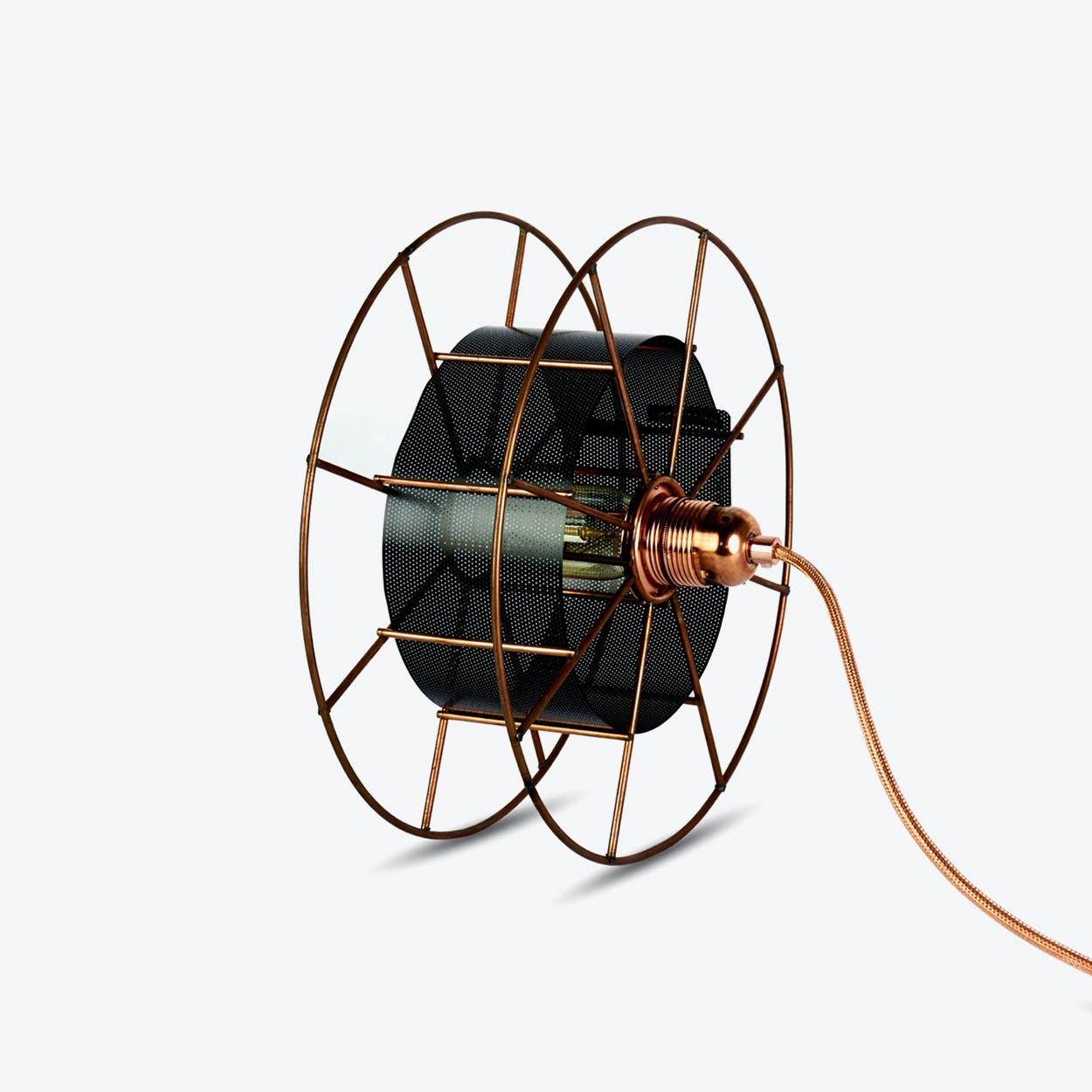 Spool Floor Lamp in Black