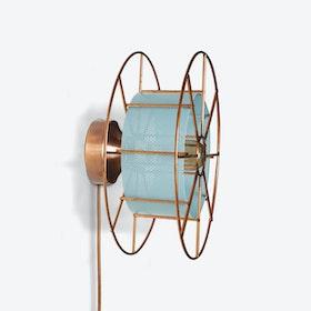 Spool Wall Light in Blue