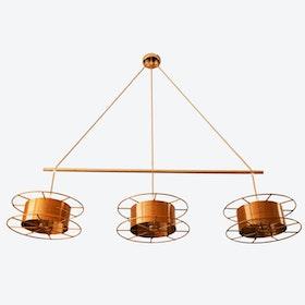 Spool Triple Pendant Light in Copper