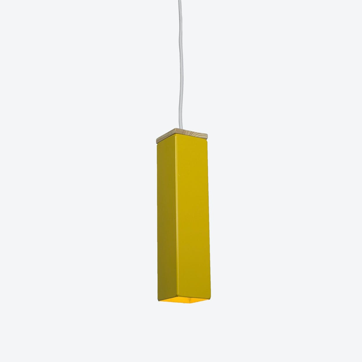 """Andy"" Pendant Light in Yellow"