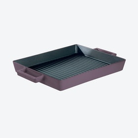 TerraCotto Cast Iron Grill Pan in Juniper (32x26cm)