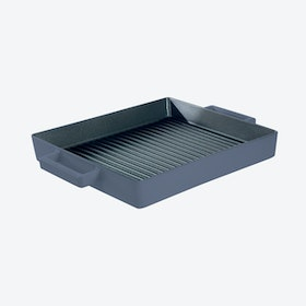 TerraCotto Cast Iron Grill Pan in Mrytle (26x26cm)