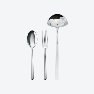 Linear Stainless Steel Serving Set (3 pcs, s.h.)