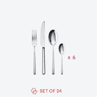 Linear Stainless Steel Flatware Set (24 pcs s.h.)
