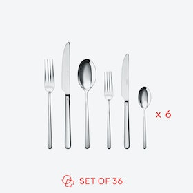 Linear Stainless Steel Flatware set (36 pcs s.h.)