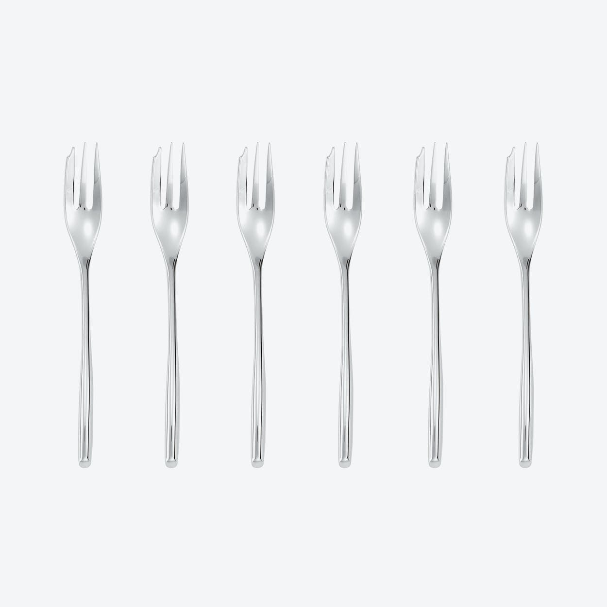 Bamboo Stainless Steel Oyster/Cake Fork Set (6 pcs)