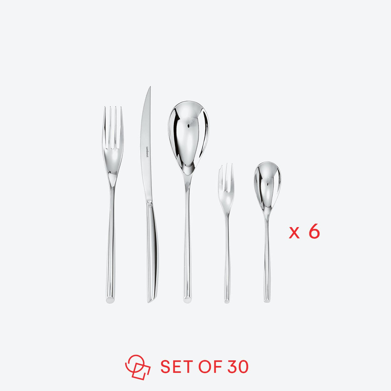Bamboo Stainless Steel Set (30 pcs S.H.)