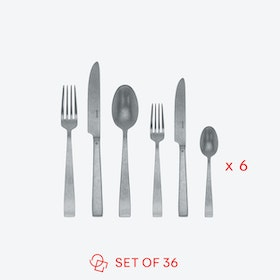 Flat Vintage Stainless Steel Flatware Set (36 pcs S.H.)
