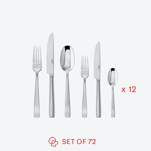 Flat Line Stainless Steel Flatware Set (72 pcs S.H.)