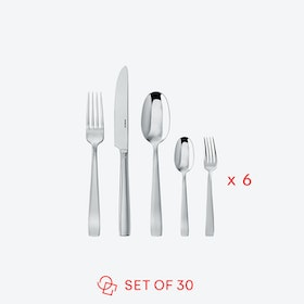 Flat Line Stainless Steel Flateware Set (30 pcs S.H.)