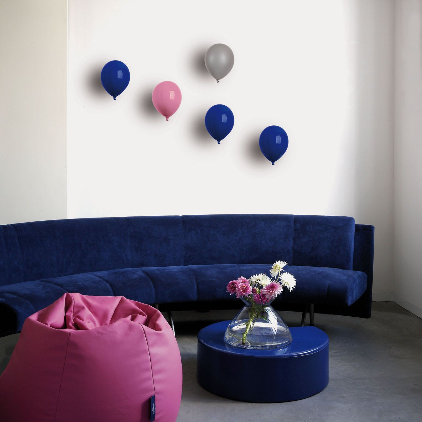 Ceramic Balloon Wall Decor in Rose