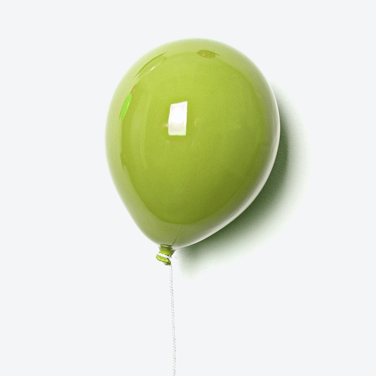 Ceramic Balloon Wall Decor in Green