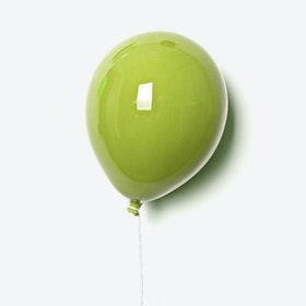 Ceramic Balloon Wall Decor in Green