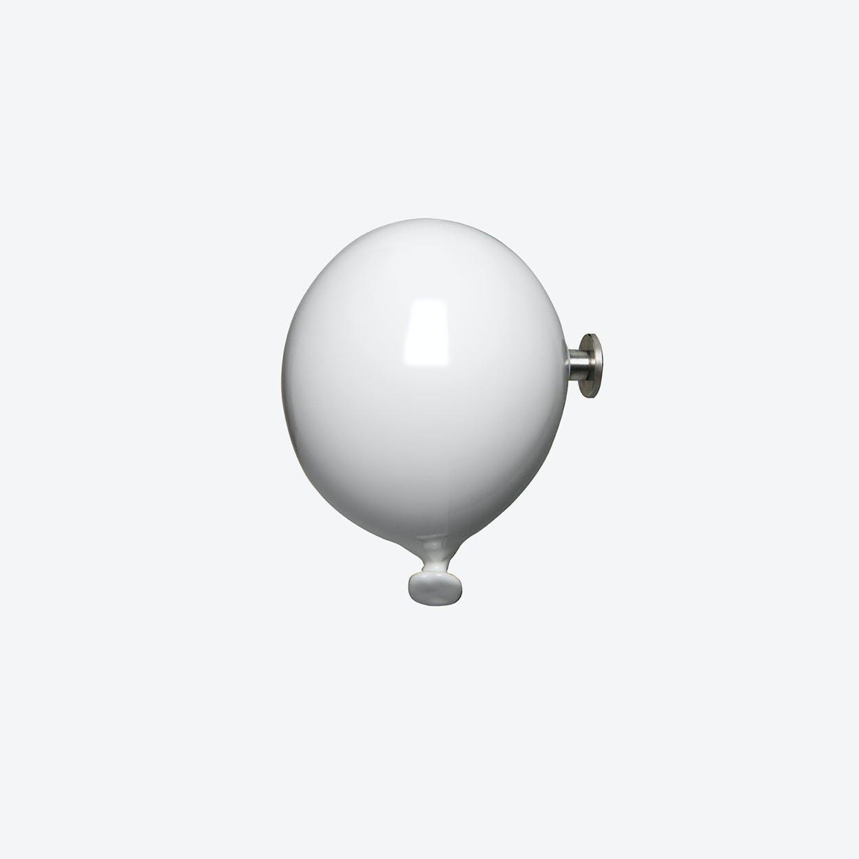 Mini Balloon Wall Hook in White